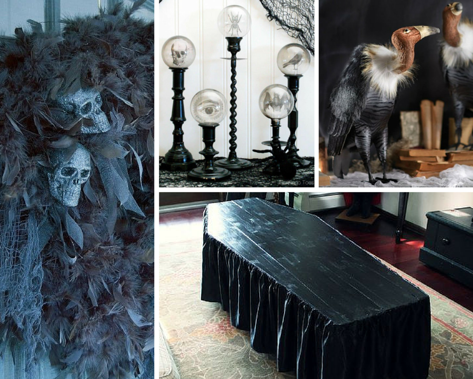Image source (clockwise from top left): trendytree.com, flamingotoes.com, homedecorators.com, halloweenforum.com