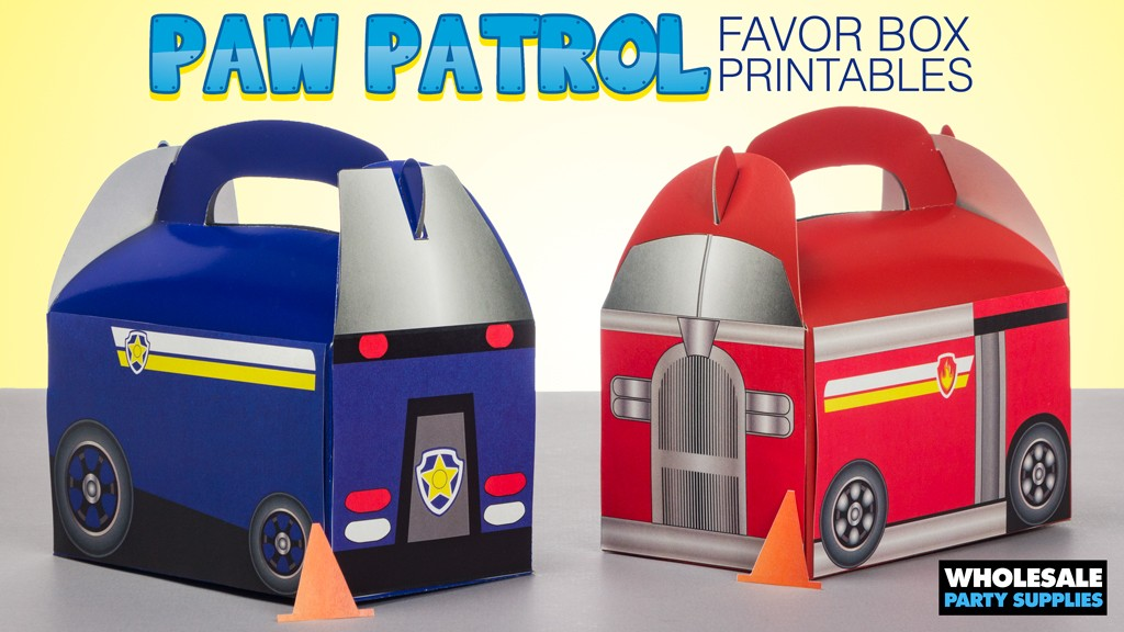 Paw Patrol Favor Box Free Printables
