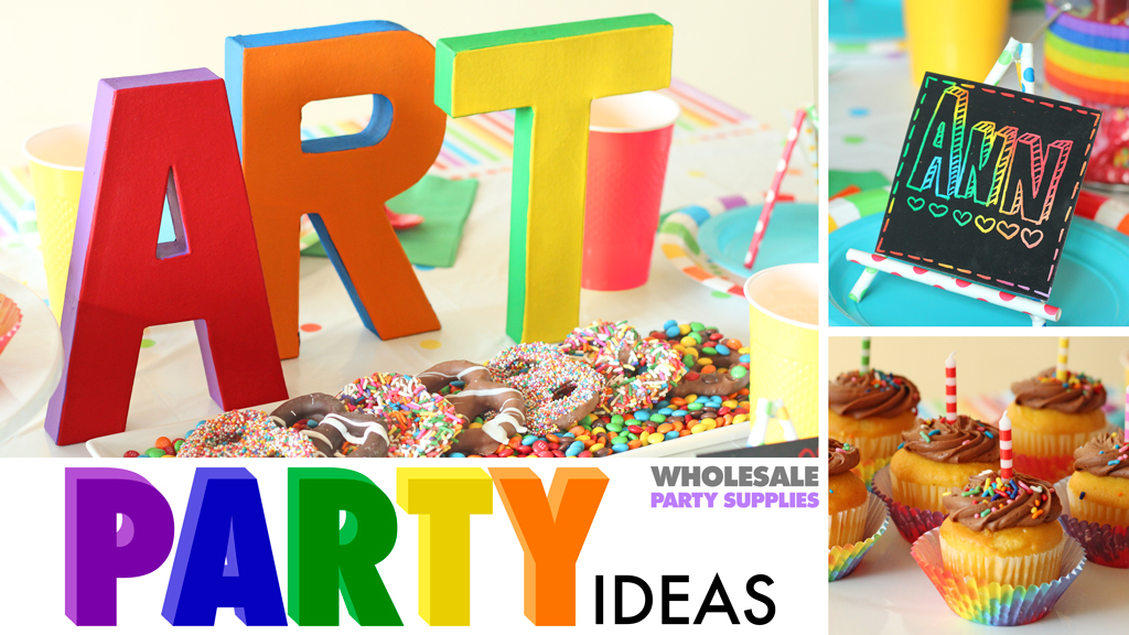 Get Colorful at Your Rainbow Art Party!