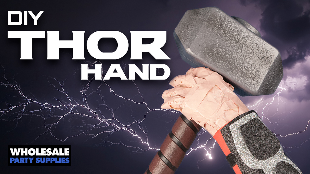 Feel the Thunder with This DIY Thor Hand Centerpiece!