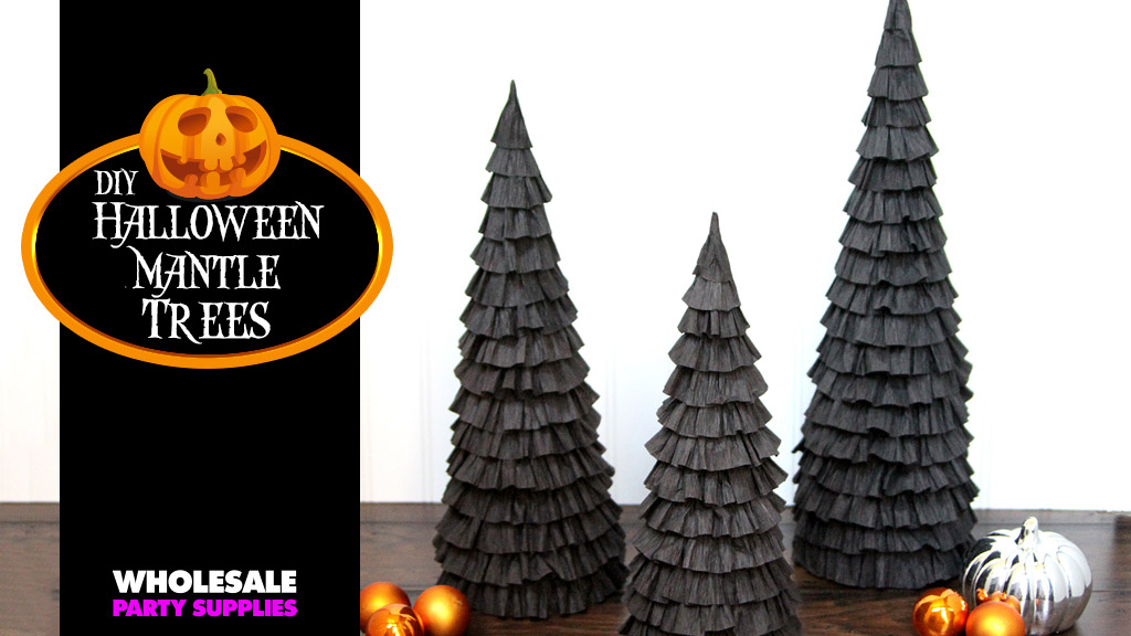 DIY Halloween Mantle Trees