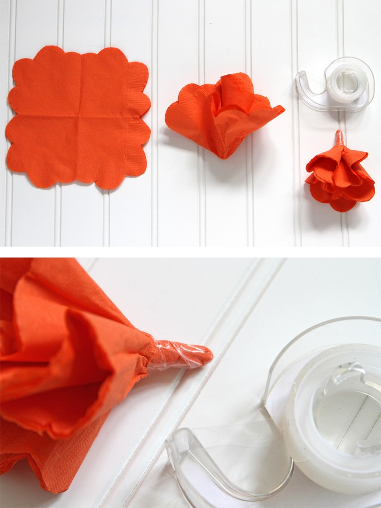 Napkin Flower Background Step 3