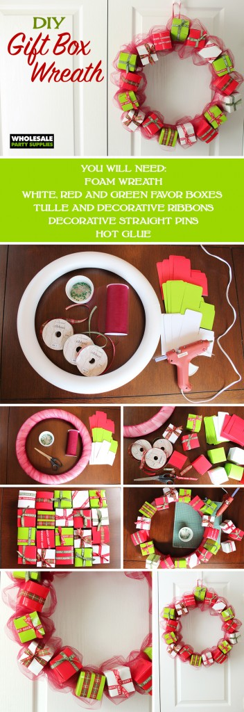 Gift Box Wreath How-To