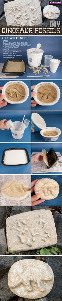 DIY Dino Fossil Project Pinterest Image
