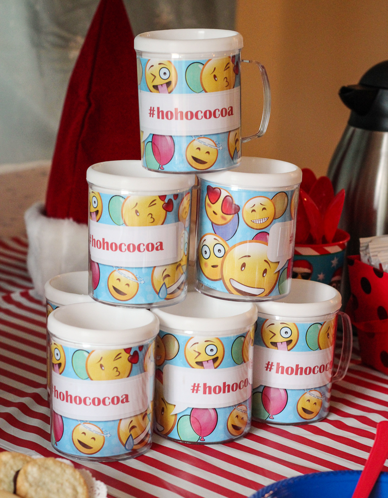 Emoji Mugs for #HoHoCocoa