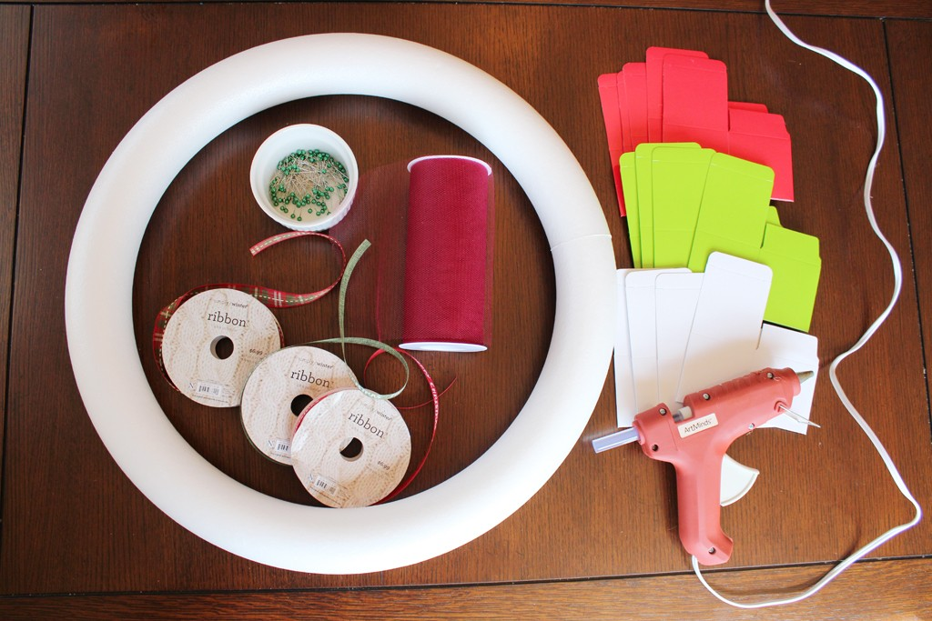 DIY Gift Box Wreath Supplies