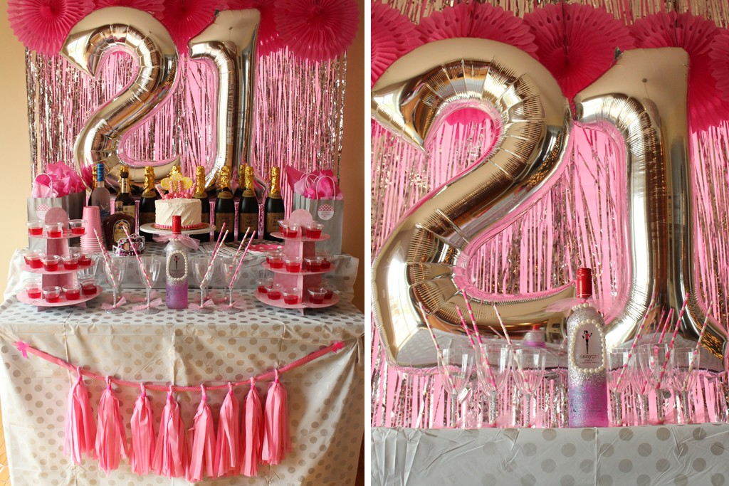 21st Birthday Table