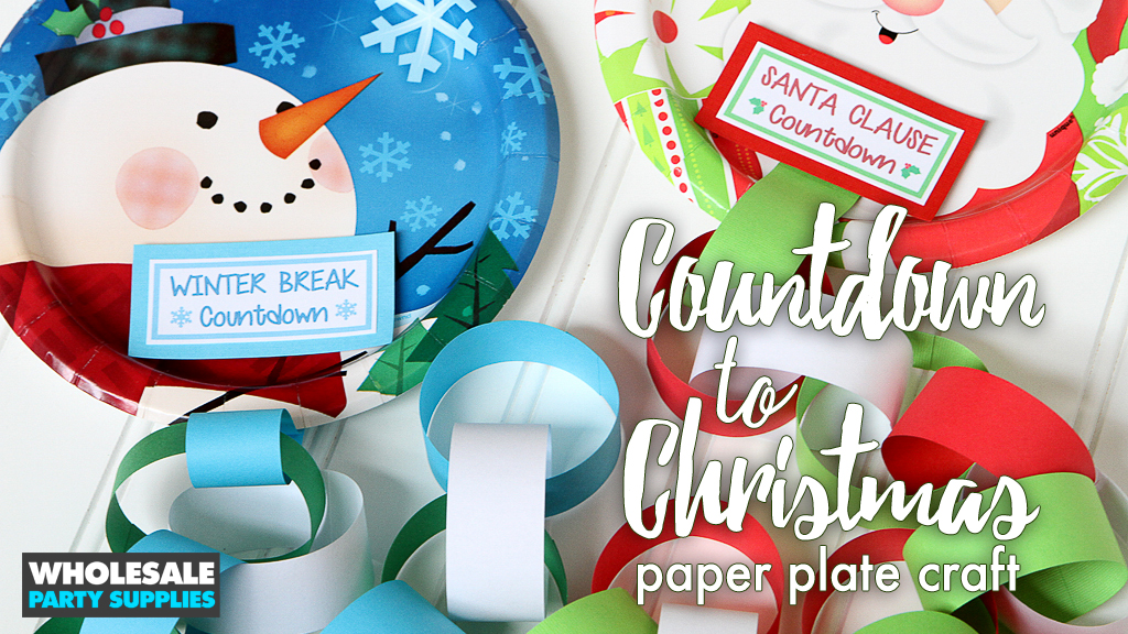Christmas Countdown Plate Craft