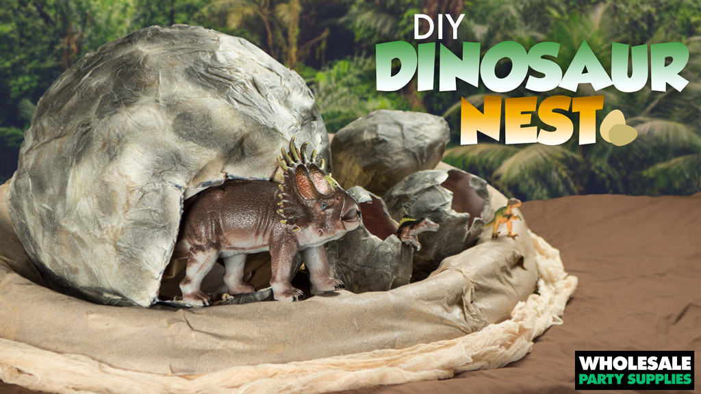 DIY Dinosaur Nest Centerpiece