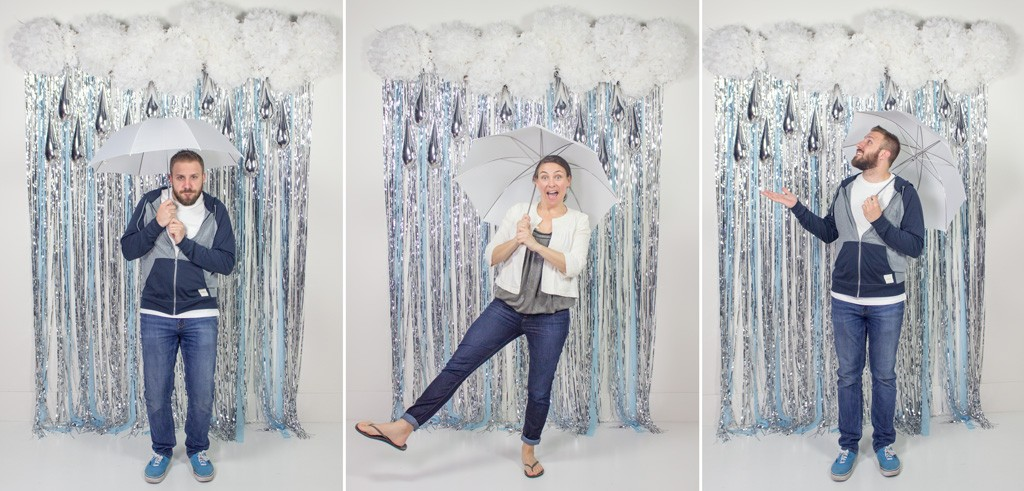 April Showers DIY Photobooth Backdrop