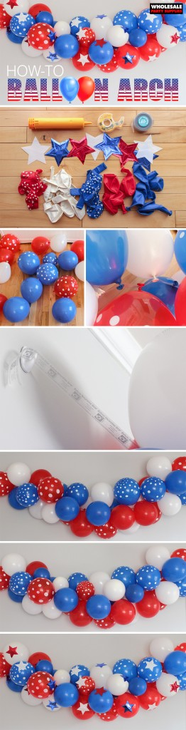 Patriotic Party Balloon Arch Pinterest Tutorial