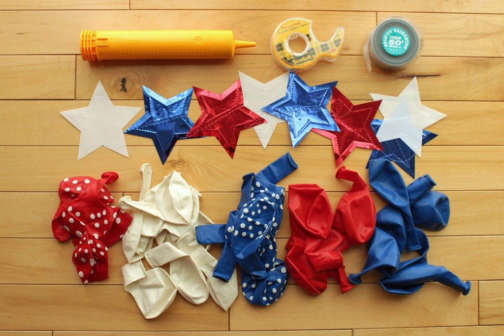Patriotic Balloon Arch Supplies