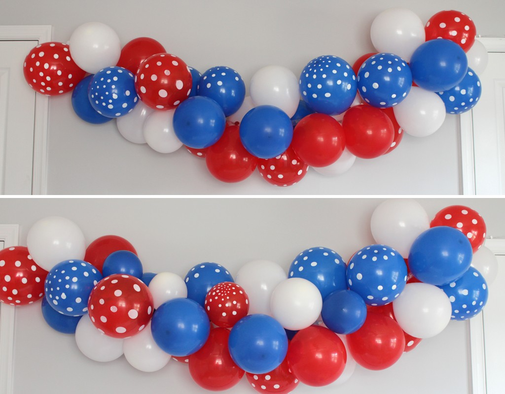 Patriotic Party Balloon Arch Step 4