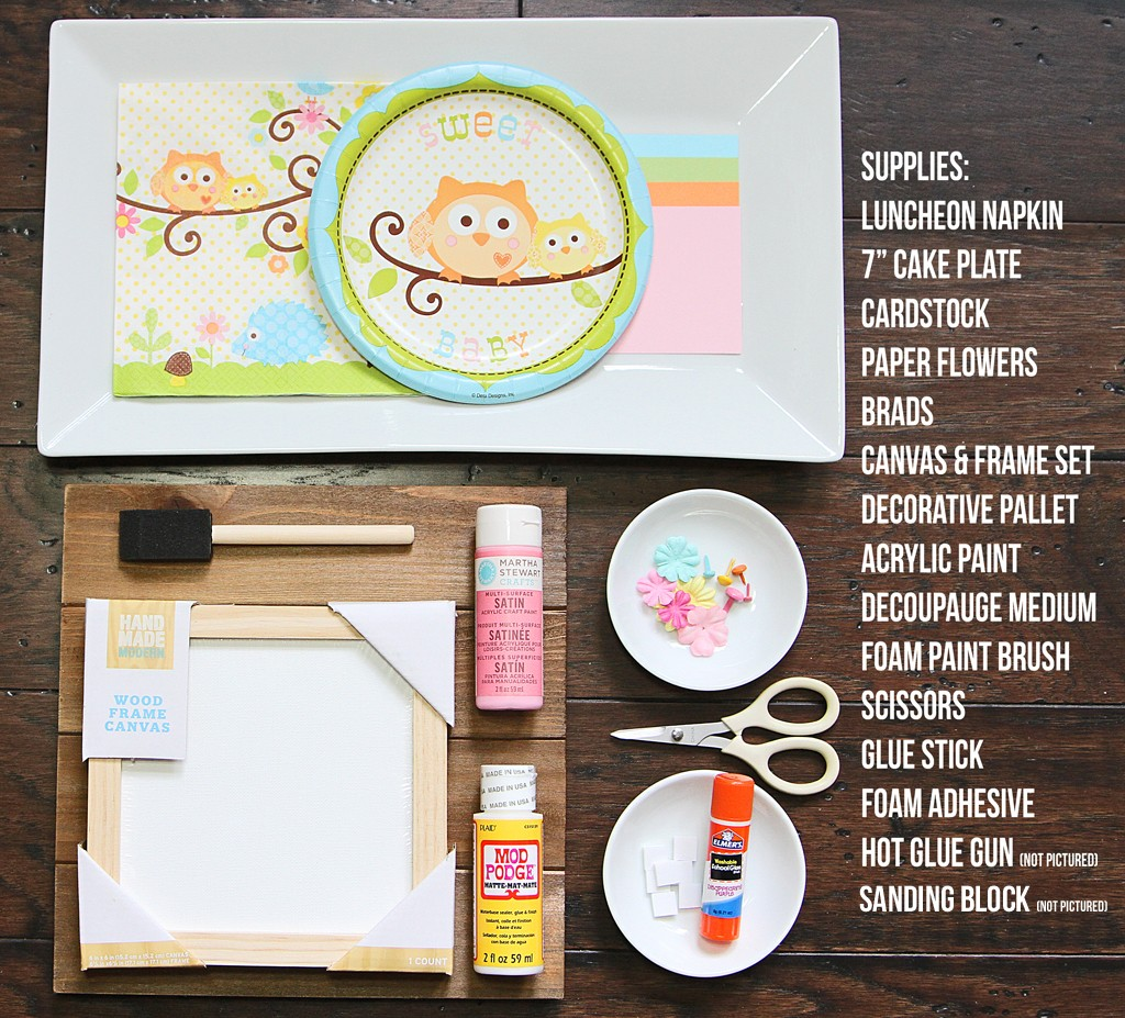 DIY Happy Tree Wall Art Supplies