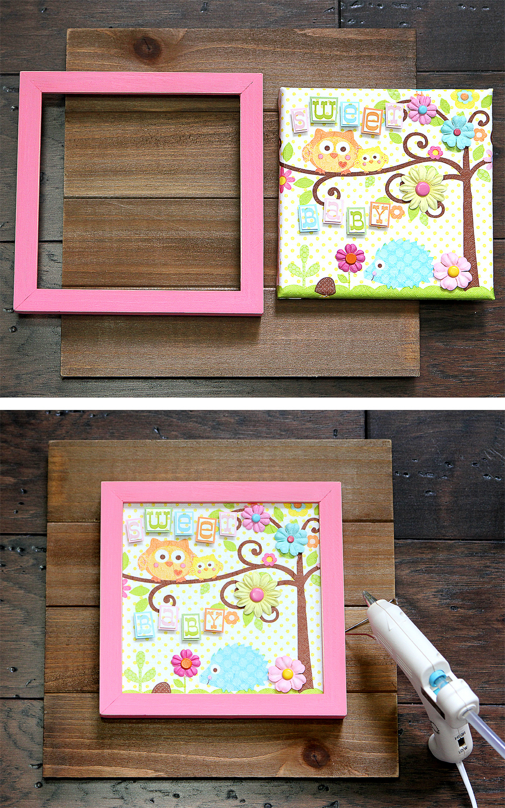 DIY Happy Tree Wall Art Step 5