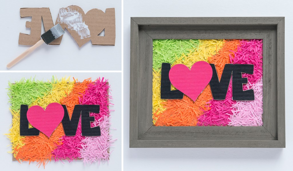 DIY Mother's Day Confetti Art Step 5
