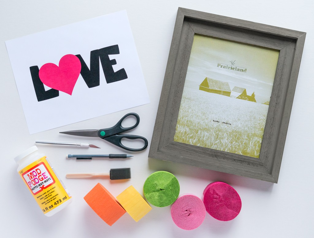 DIY Mother's Day Confetti Art Supplies