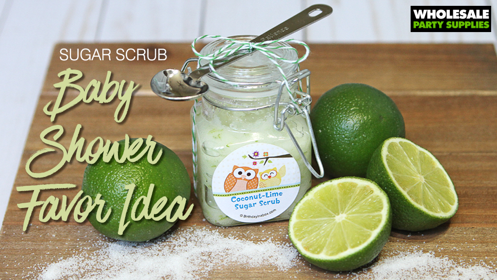 DIY Sugar Scrub Baby Shower Favor