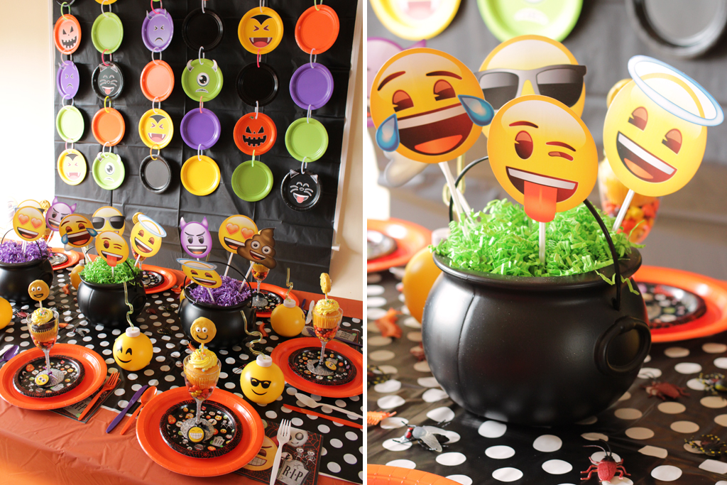 Halloween Emoji Party Table
