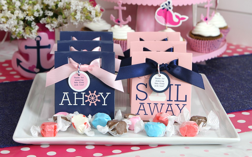 Nautical Pink Baby Shower Favors