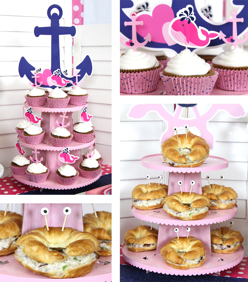 Nautical Pink Baby Shower Food