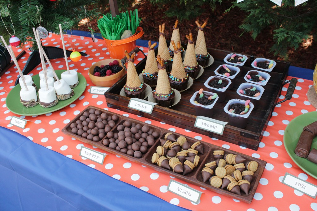 Let's Go Camping Party Food Table