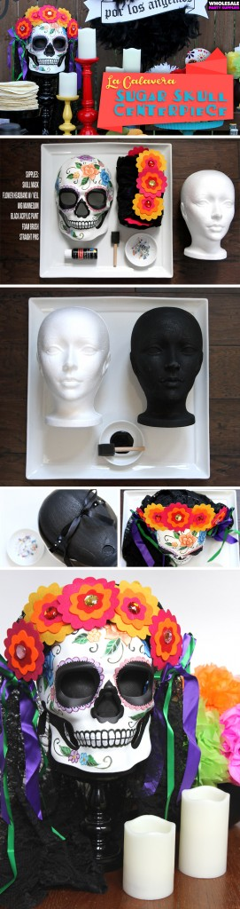 Sugar Skull Centerpiece for Day of the Dead Pinterest Guide