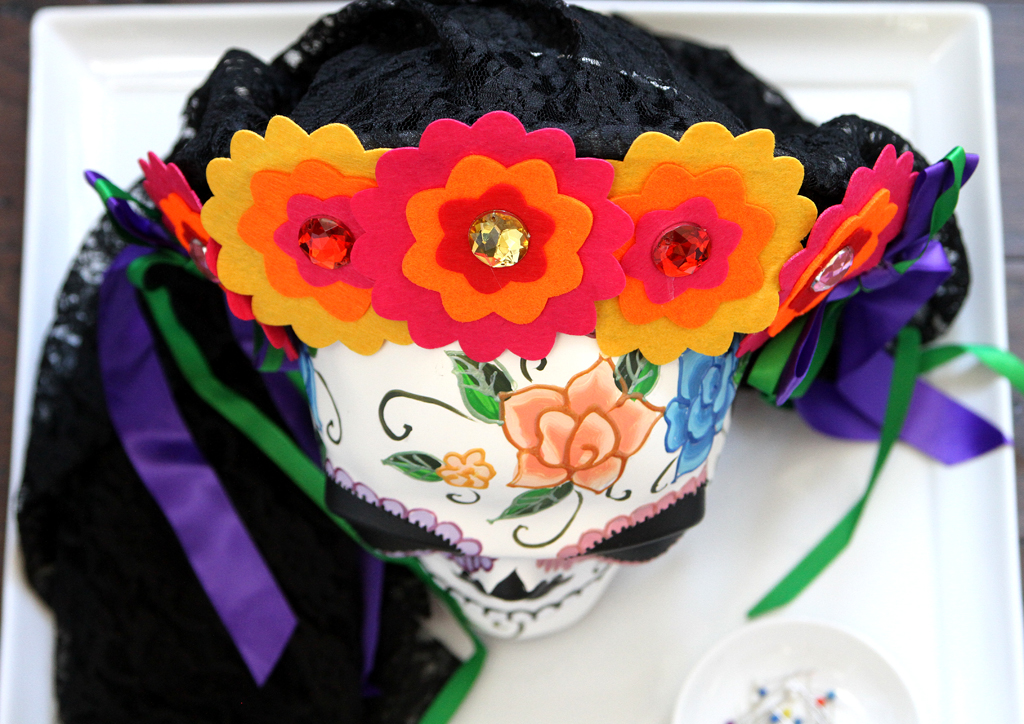 Sugar Skull Centerpiece for Day of the Dead Step 3
