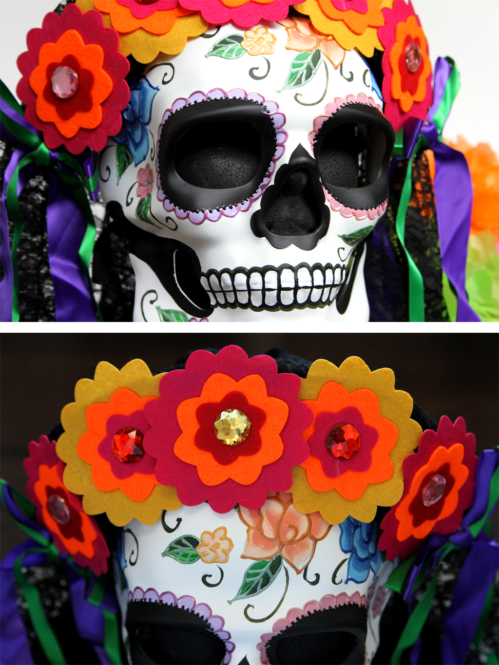 Sugar Skull Centerpiece for Day of the Dead Step 4