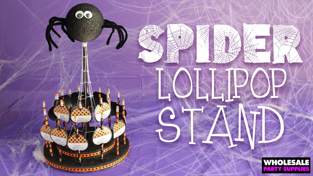 DIY Spider Lollipop Stand