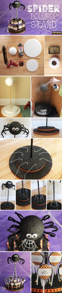 DIY Spider Lollipop Stand Pinterest Guide