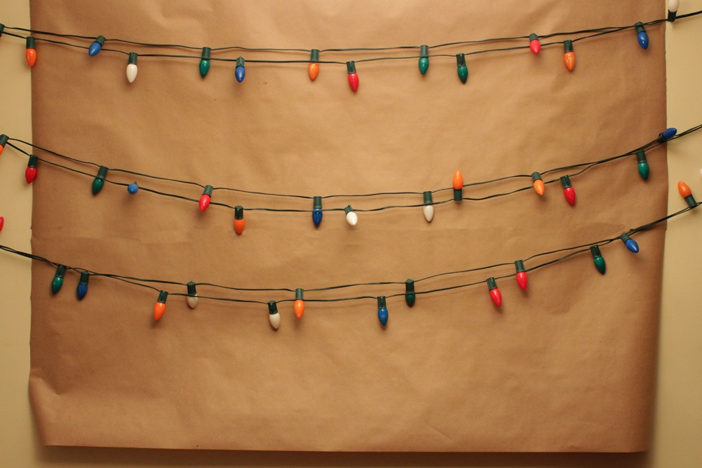 Stranger Things Alphabet Wall Party Backdrop Step 1