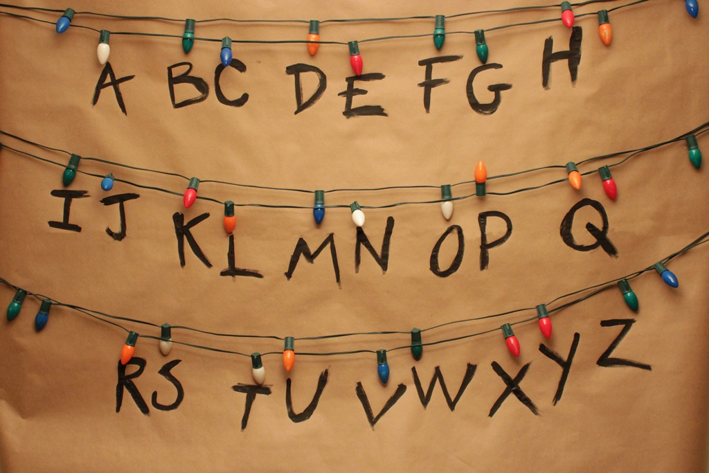 Stranger Things Alphabet Wall Party Backdrop Step 2