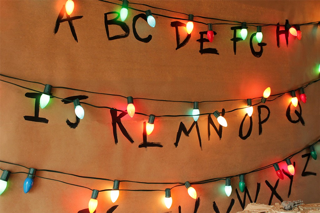 Stranger Things Alphabet Wall Party Backdrop Step 3
