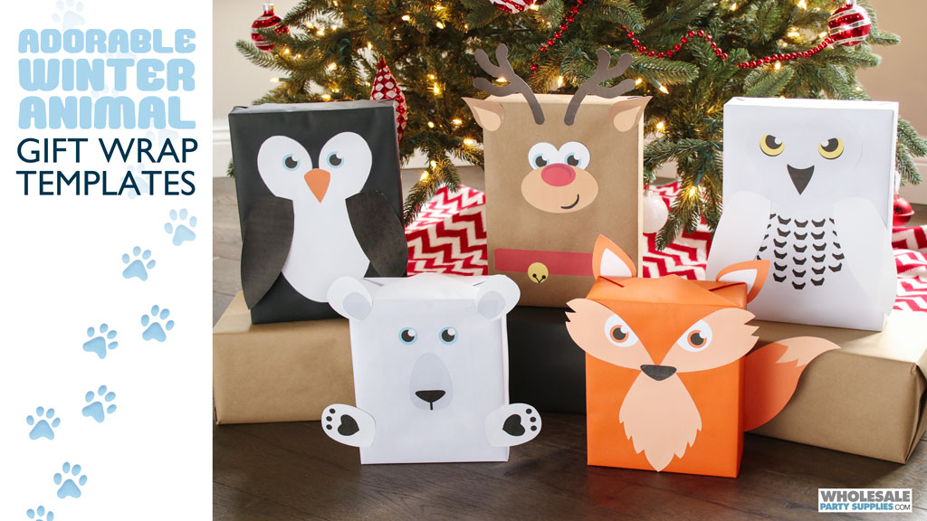 Adorable Animal Gift Wrapping Tutorial with Free Templates