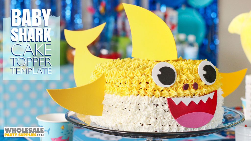 Baby Shark Cake With DIY Topper
