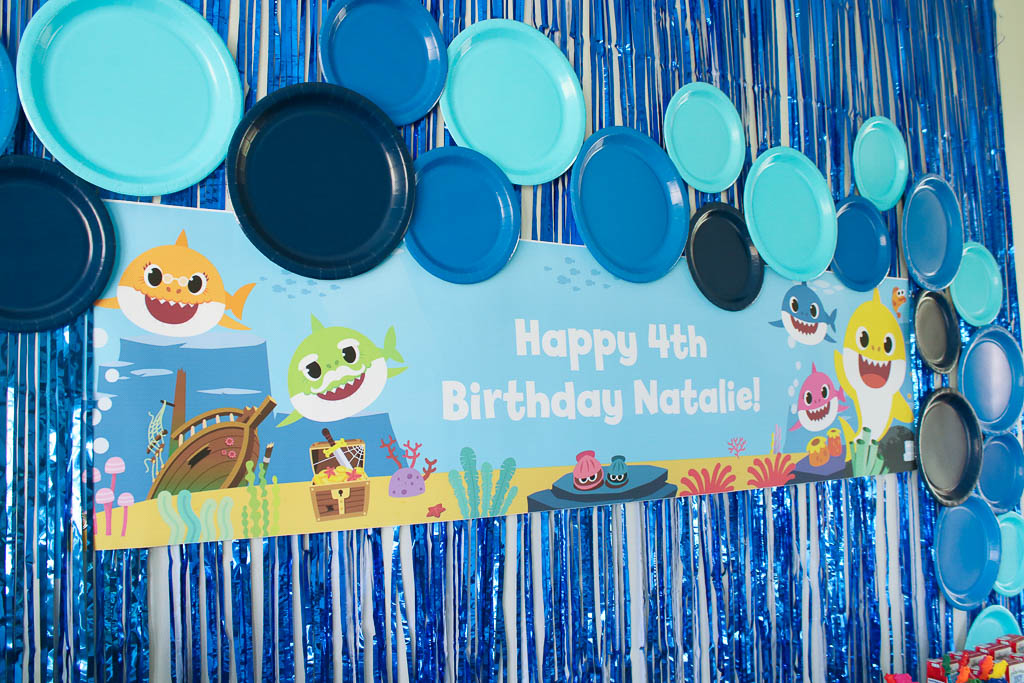 Baby Shark Party Banner