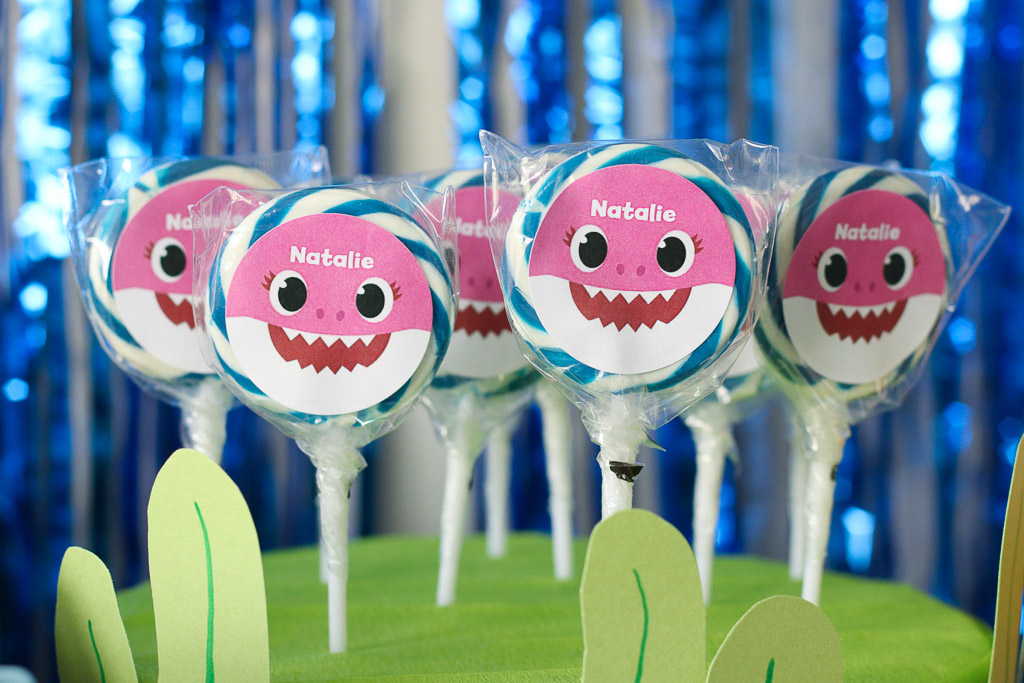 Baby Shark Party Personalized Lollipops