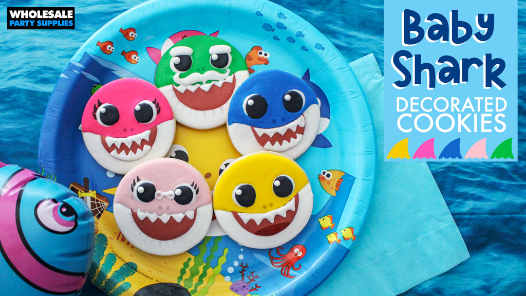 Baby Shark Decorated Cookies Tutorial