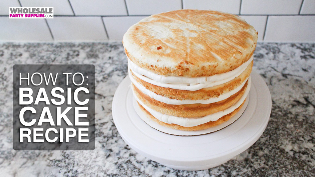 Basic Layer Cake Recipe and Tutorial