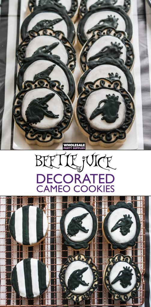 Beetlejuice Decorated Cameo Cookies Pinterest