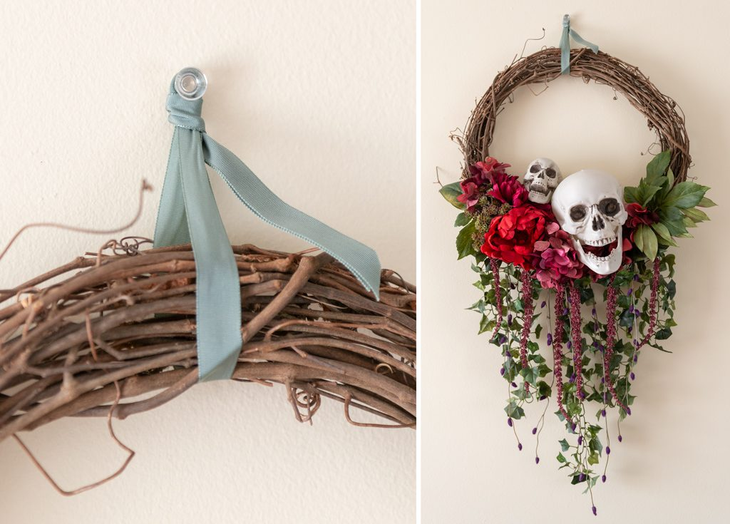DIY Bones and Blossoms Halloween Wreath Step 12