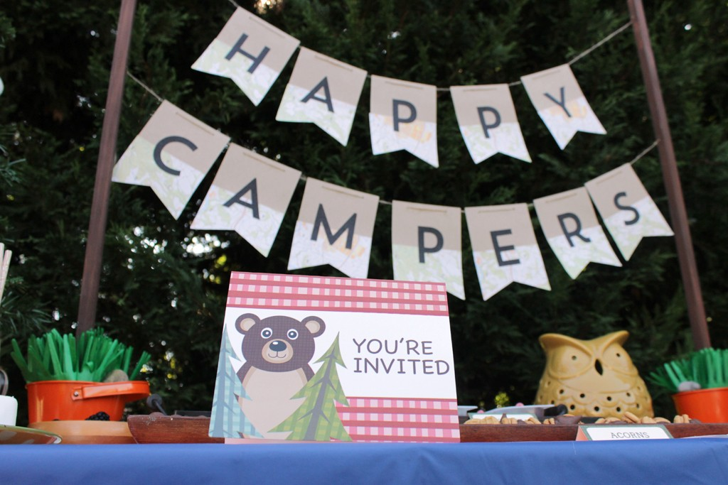 Let's Go Camping Party Ideas