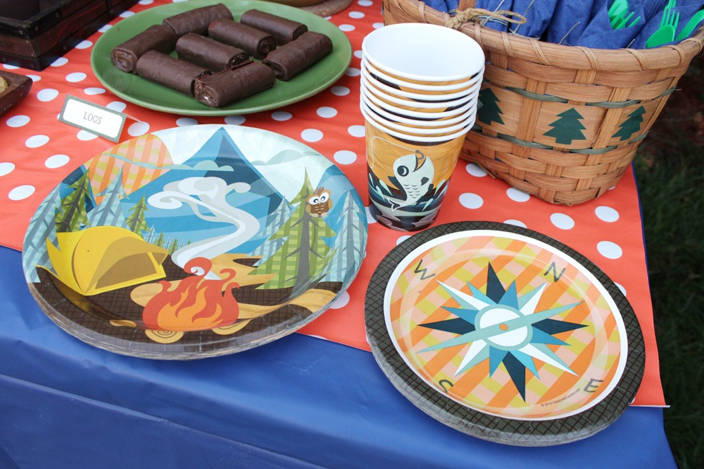 Let's Go Camping Party Tableware