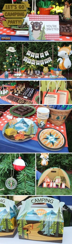 Let's Go Camping Party Pinterest Guide
