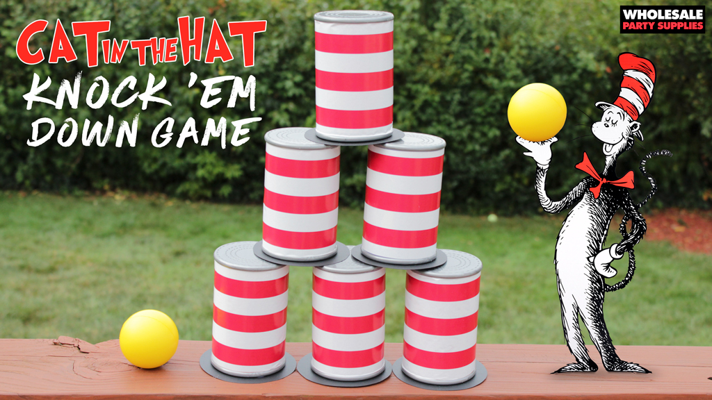 Can in the Hat Style Knock 'em Down Can Game