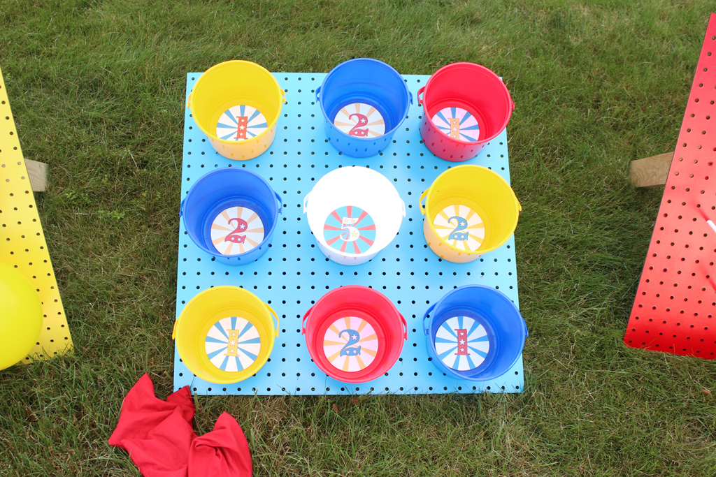 DIY Carnival Party Pegboard Games