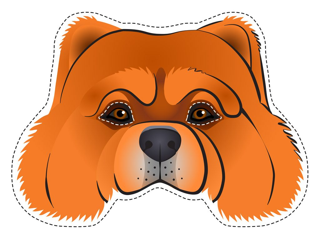 Chow Chow Dog Face Printable
