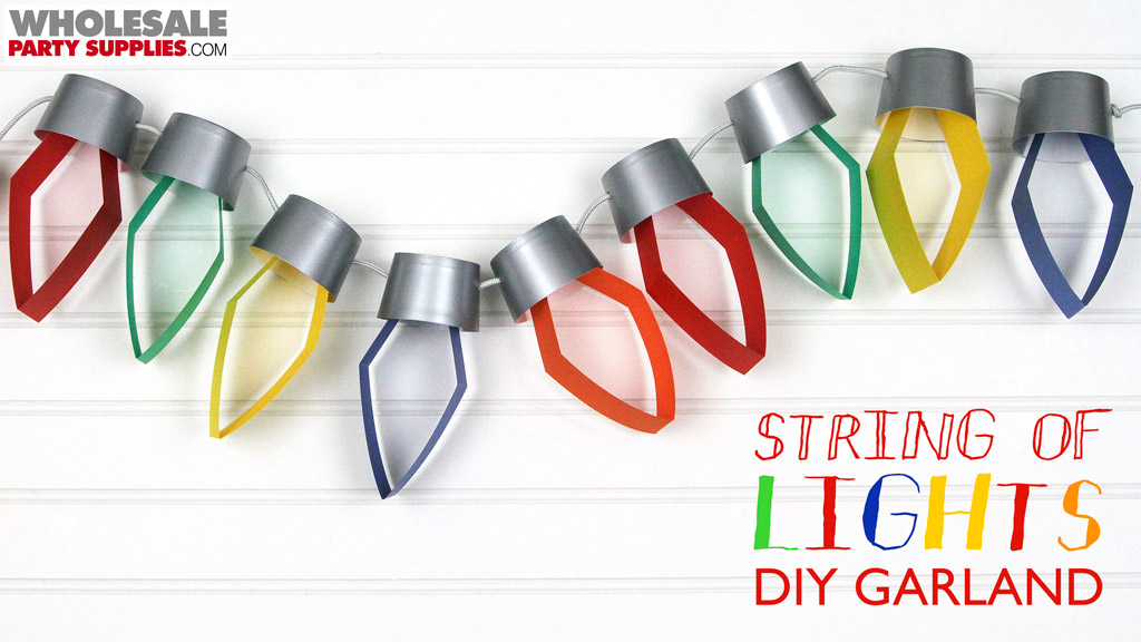 DIY Paper Christmas Lights Garland Tutorial