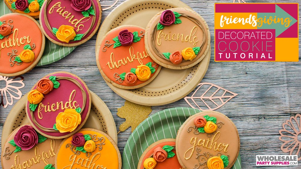 Friendsgiving Decorated Cookie Tutorial